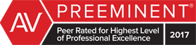 AV PREEMINENT | Peer Rated for Highest Level | of Professional Excellence 2017